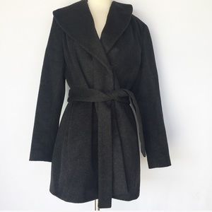 Calvin Klein dark gray wool coat
